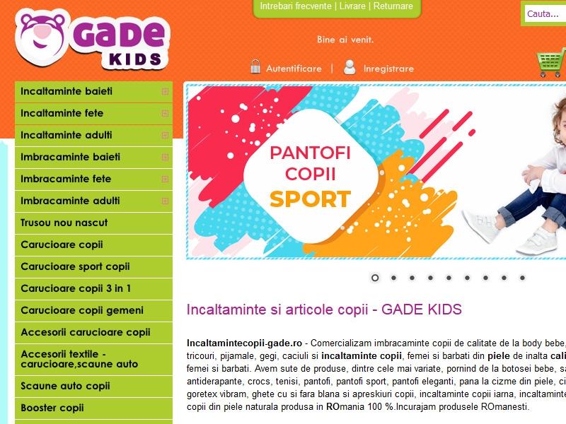 Magazin online incaltamintecopii-gade.ro