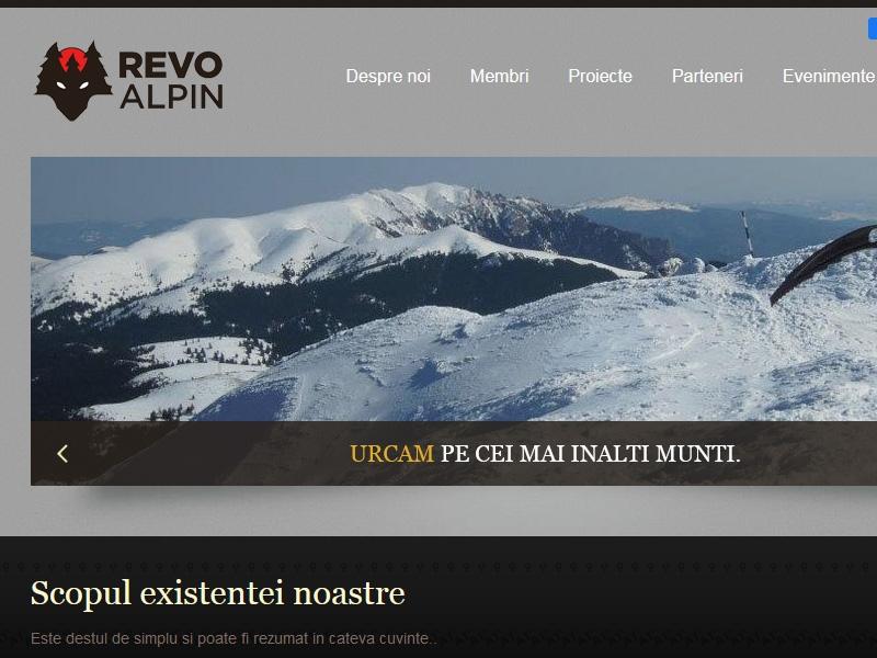 Website de prezentare revoalpin.ro